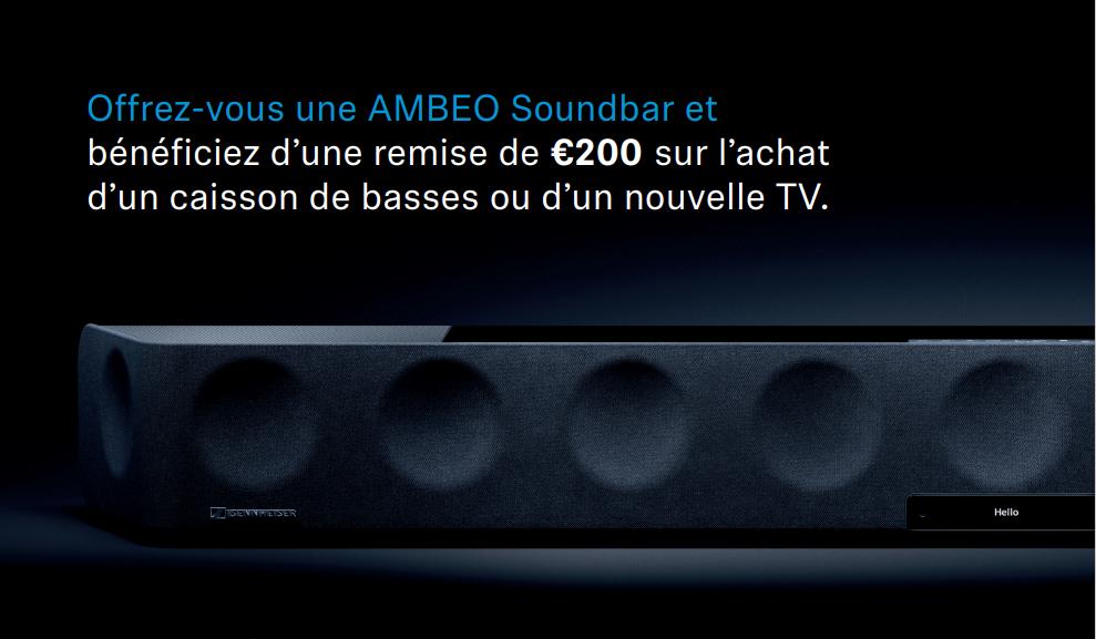 200€ de remise sur votre caisson de basses ou nouvelle TV